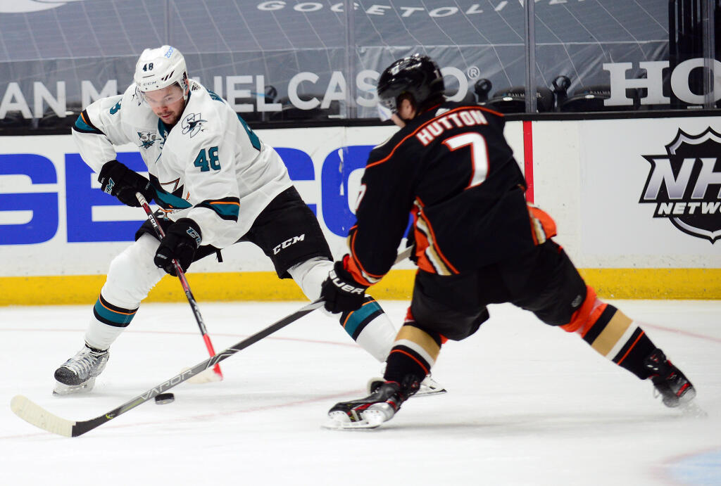 Toronto Maple Leafs acquire defenceman Ben Hutton from the Anaheim Ducks for a 5th-round pick