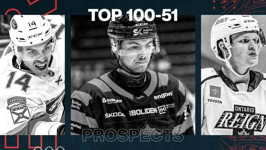 Ranking the NHL's top 100 affiliated prospects in 2021: Skaters 100-51