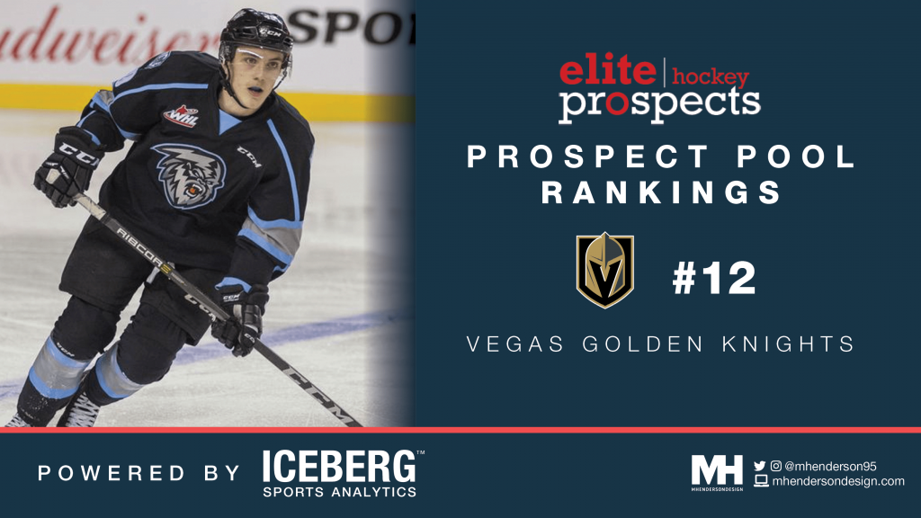 EP Rinkside Prospect Pool Rankings: No. 12 Ranked Vegas Golden Knights