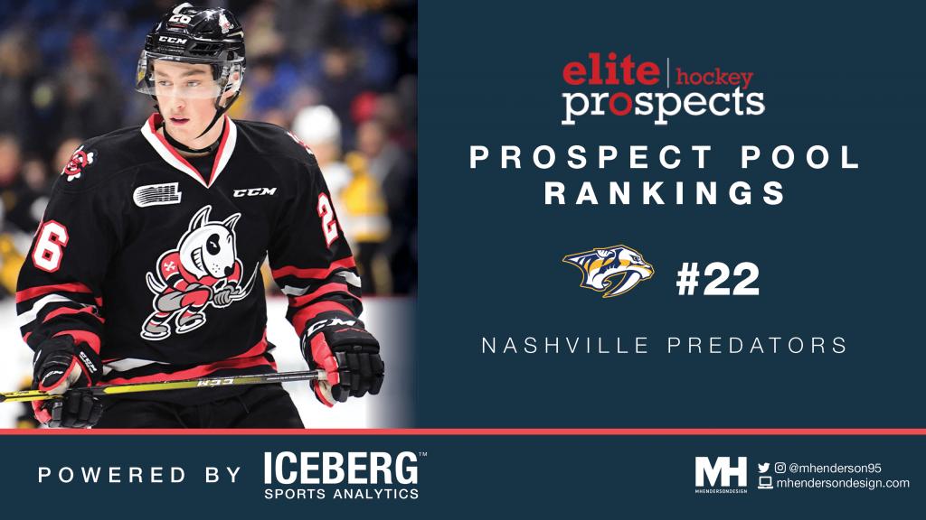 EP Rinkside Prospect Pool Rankings: No. 22 Ranked Nashville Predators