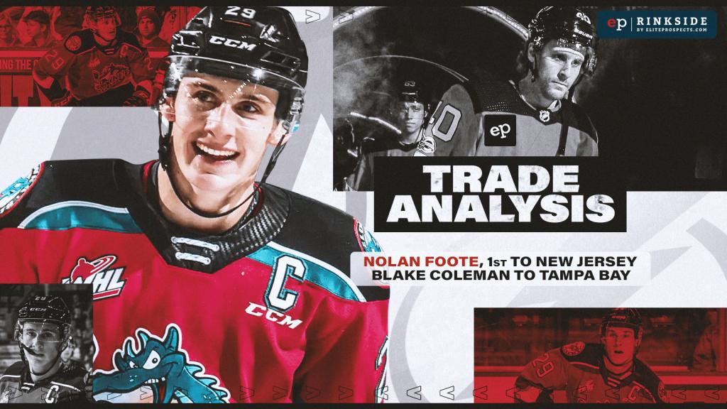 Trade Analysis: New Jersey Devils Blake Coleman Haul Centred on Power Forward Nolan Foote