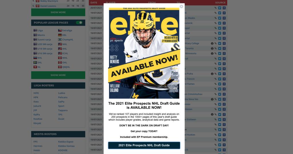 EliteProspectsin opas NHL:n varaustilaisuuteen on julkaistu – sisältää yli 1200 sivua analyysiä ja raportteja liittyen varattavissa oleviin pelaajiin