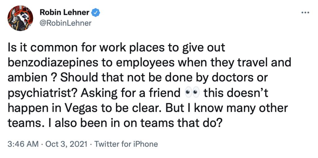 Robin Lehner/Twitter